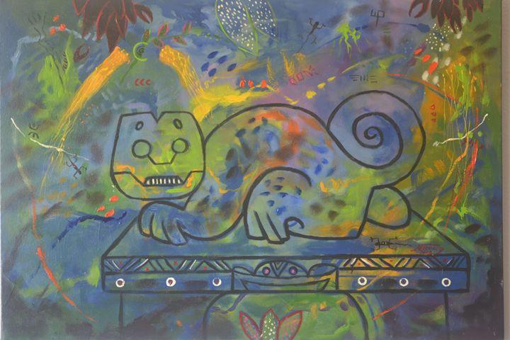Precolumbian Cat / Gato Precolombino - Narvaez Gallery