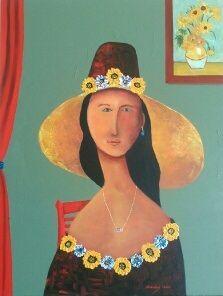 Flower Lady - Narvaez Gallery