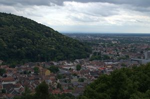 Heidelberg From Atop A BismarckTower