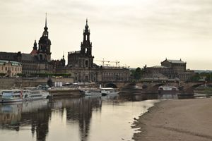 Dresden Across The Elbe River