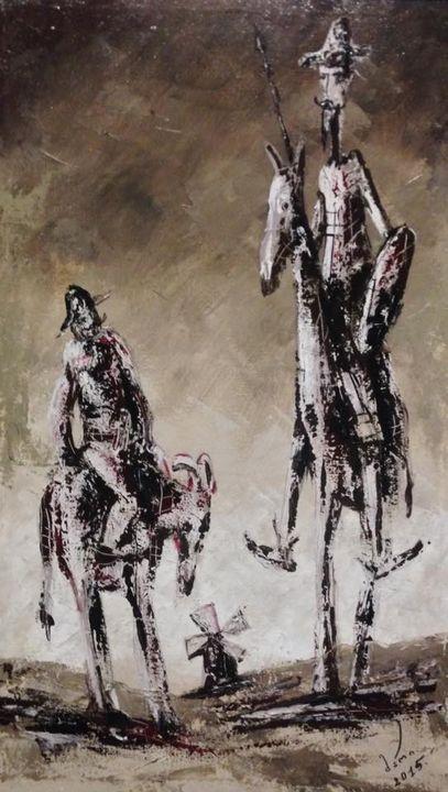 Don Quixote and Sancho Panza - MariArt