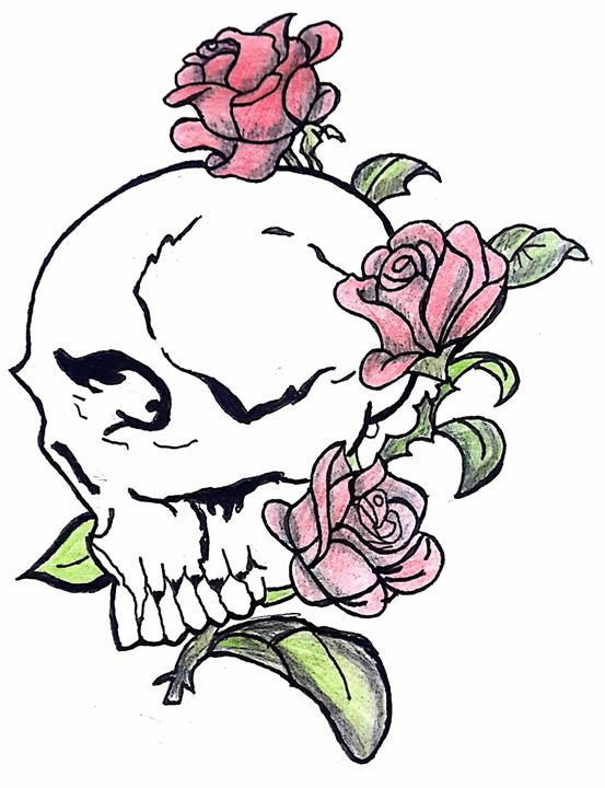 Romantic Skull - Lonerwolf