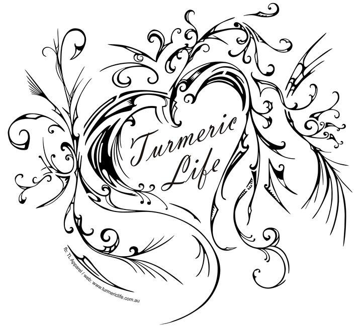 Turmericlife Heart - Sanet van Wyk pen and ink
