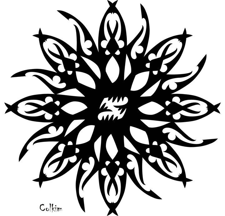 DAHLIA - Sanet van Wyk pen and ink