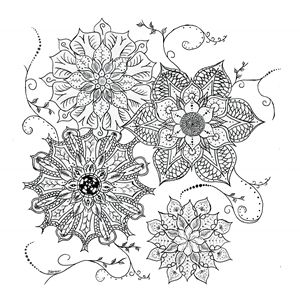 Flowers Tribal Dot Work