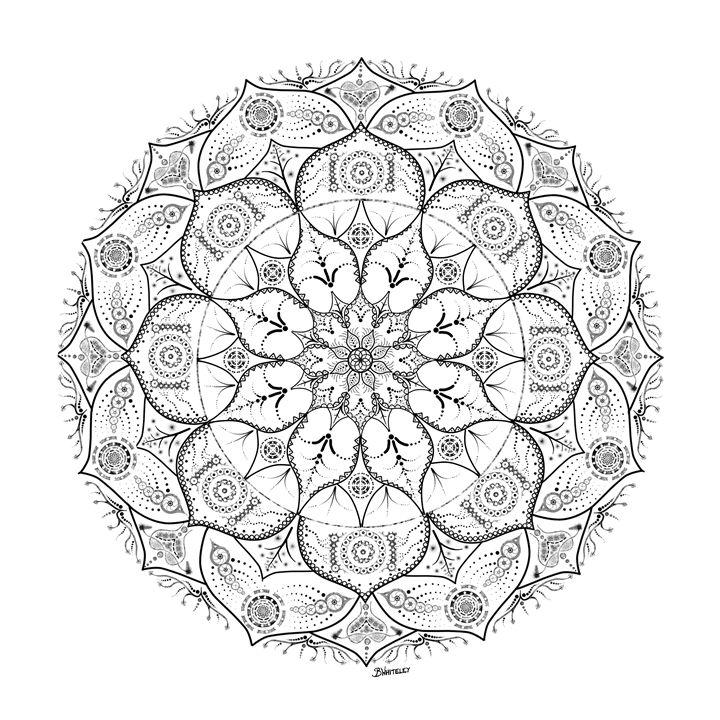 Mandala Dot Work Tribal - BW Drawings