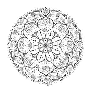 Mandala Dot Work Tribal