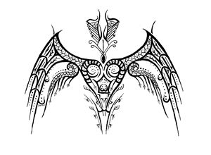 Heart Tribal Wings