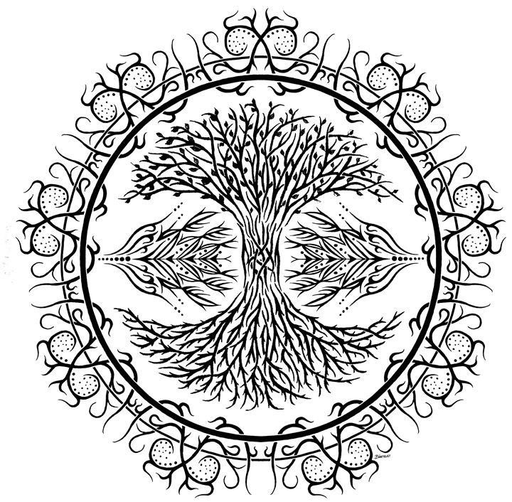 Tree of Life Tribal - BW Drawings