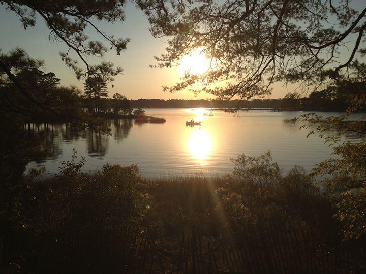 Sunset over lake 1 - Diane Ong
