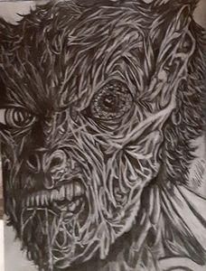Final stage morphing man to werewolf - HallZart