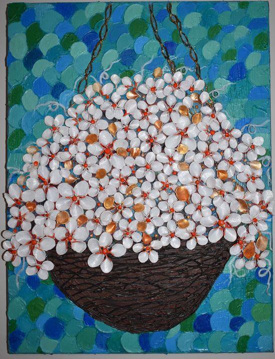 Hanging Flower basket - Paintings