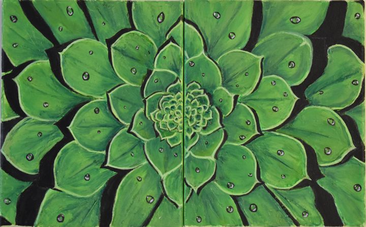Aeonium - Diptych - Paintings