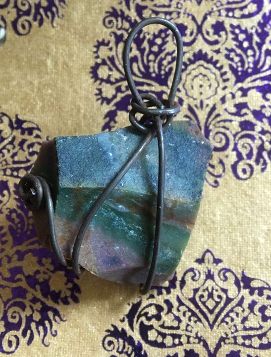 Wire Wrapped Natural Jasper - Beauty by the Beast