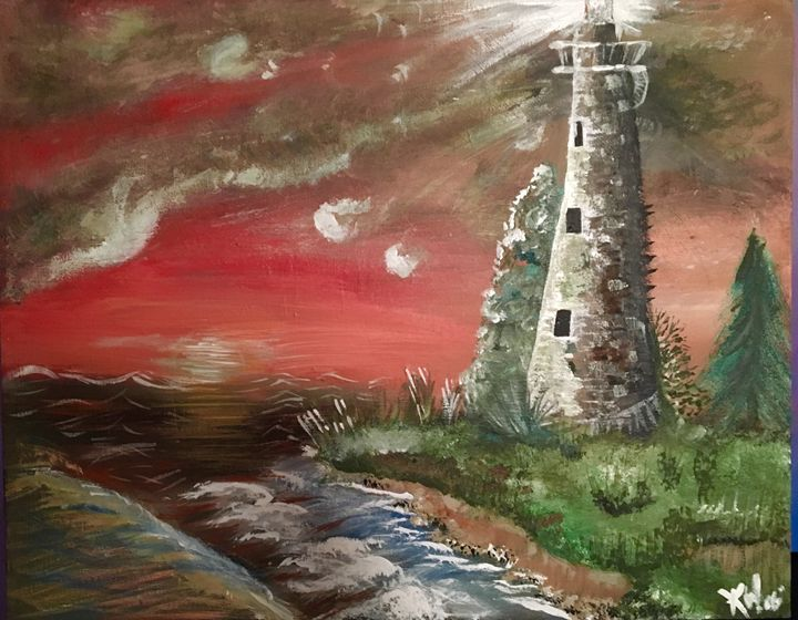 The Lighthouse (Original Sold) - Beauty by the Beast