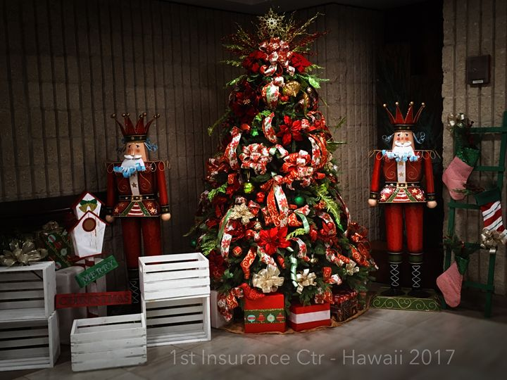 Christmas Display at First Insurance - Jeanné Wynne Herring