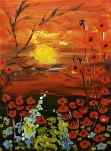 POPPY FIELD AT SUNSET - Renata Maroti