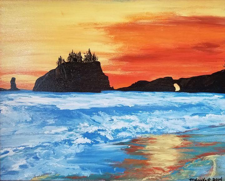 Second Beach - another look! - Underground Art - a MKurka Art Studio
