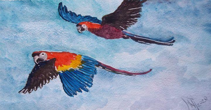 Cotorros Volando - Jose Hau Artwork