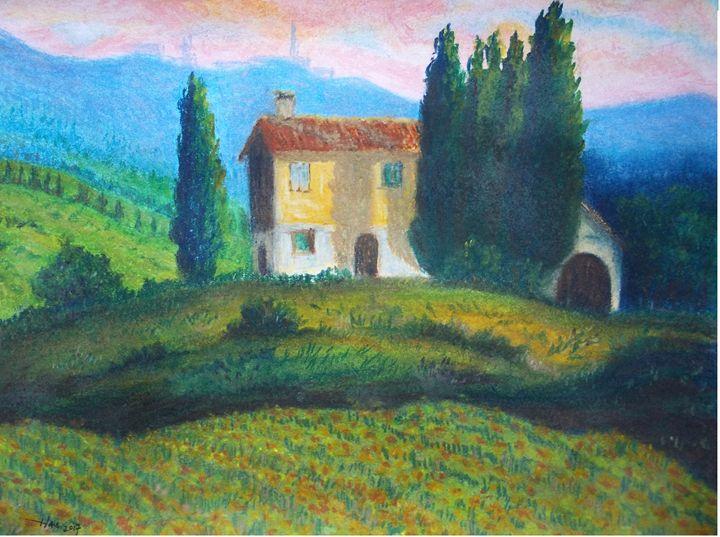 Field with Sunflowers 2 - Jose Hau Artwork