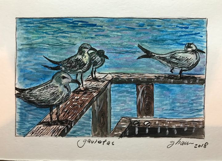 Gaviotas - Jose Hau Artwork