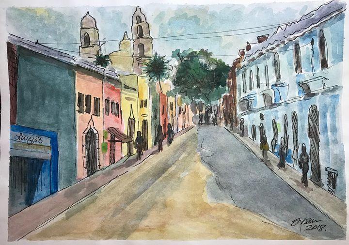 Merida Mx Downtown - Jose Hau Artwork
