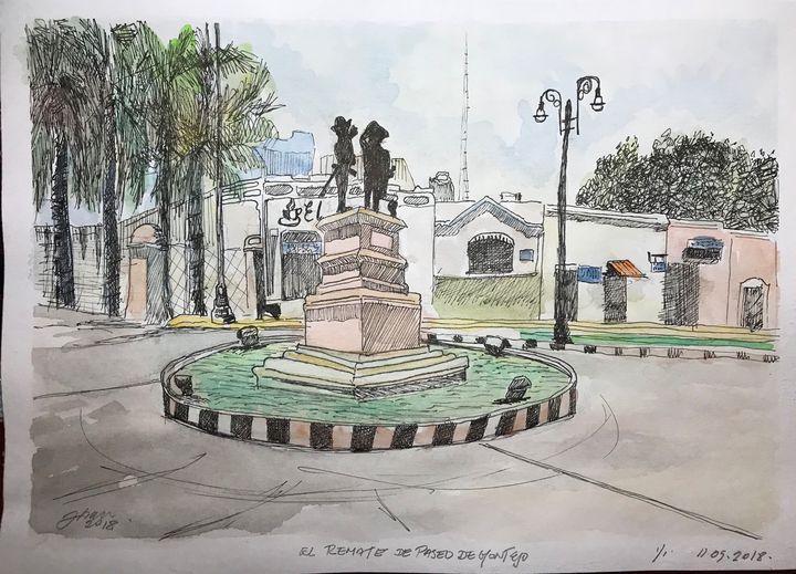 Merida Paseo de Montejo - Jose Hau Artwork
