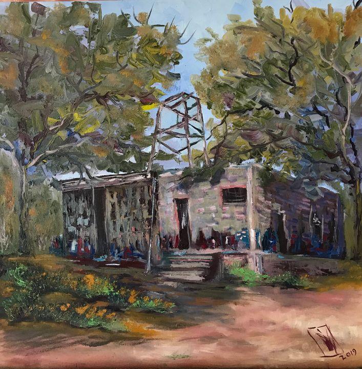 Cabin in the forest - Jose Hau Artwork