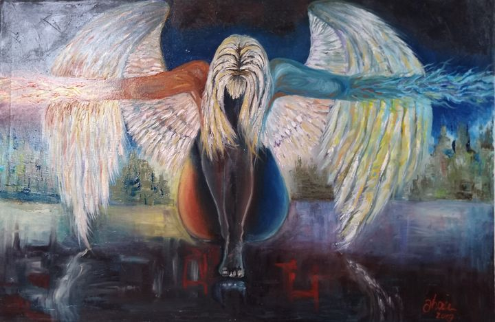 Fallen angel - Jose Hau Artwork