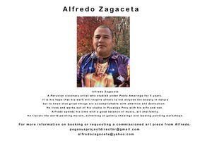 Artist Info Card . Alfredo Zagaceta