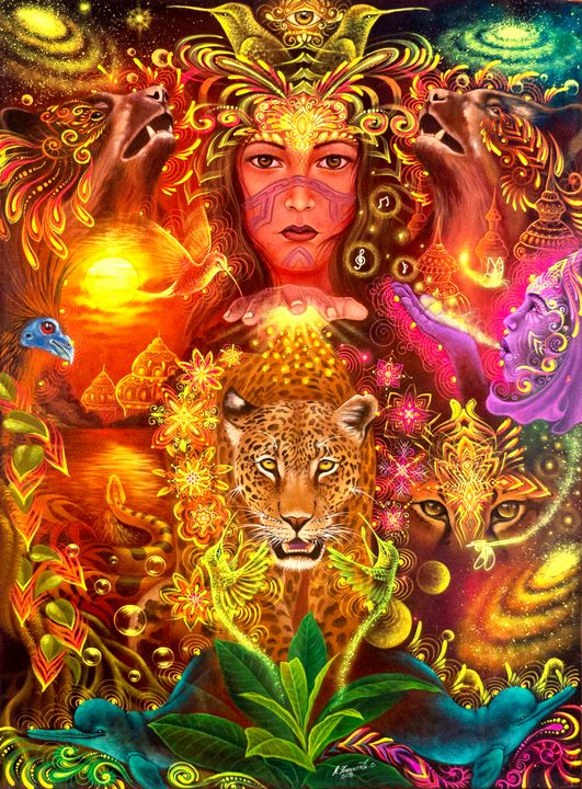 """Magic Sunset"" Alfredo Zagaceta - Pegasus Project Visionary Art Gallery"