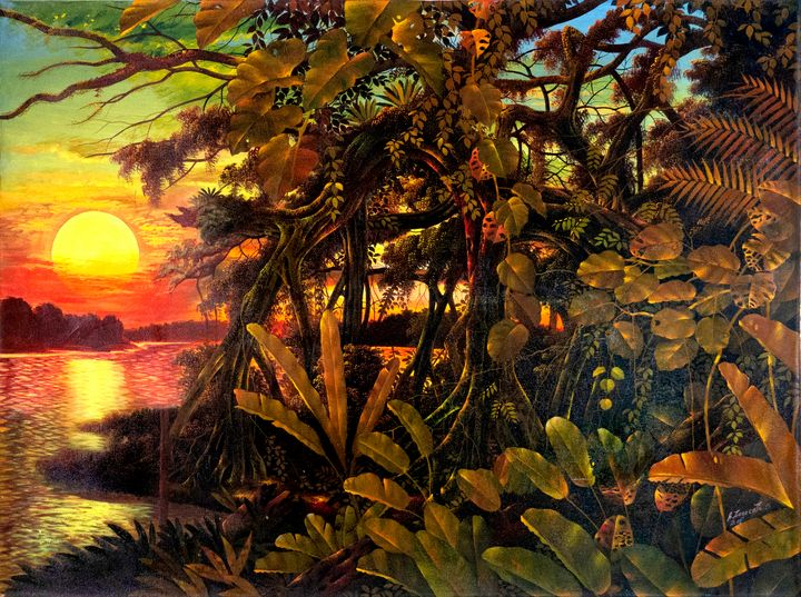 """Sunset"" Alfredo Zagaceta - Pegasus Project Visionary Art Gallery"