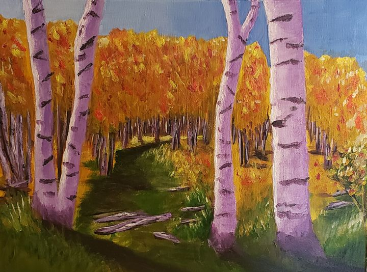 Birch Forest in the Fall - Don Davis