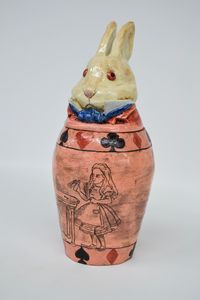 White Rabbit Canopic Jar