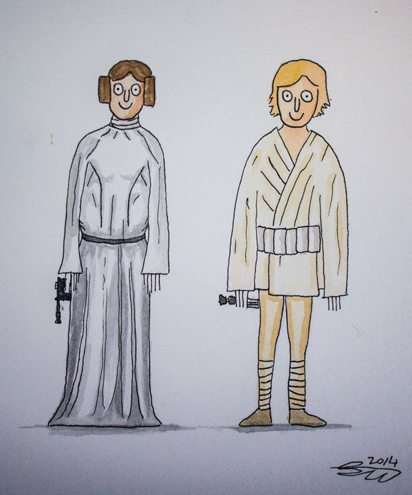 Luke and leia - Ben Wilkinson