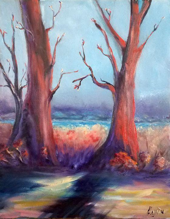 Between the Trees - Flynn Paintings