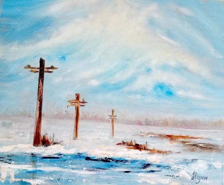 North Dakota Christmas tree farm - Flynn Paintings
