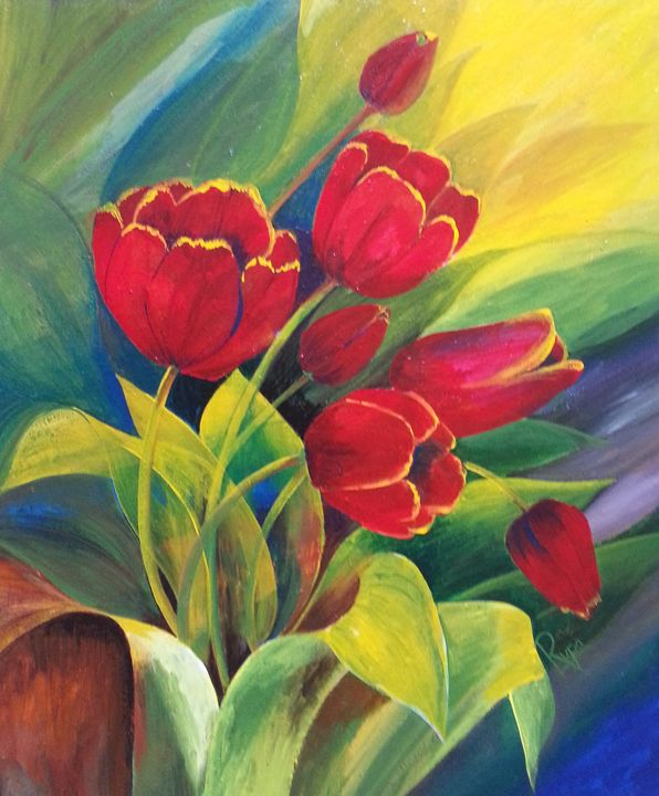 Blooming Tulips - Rupa's Art