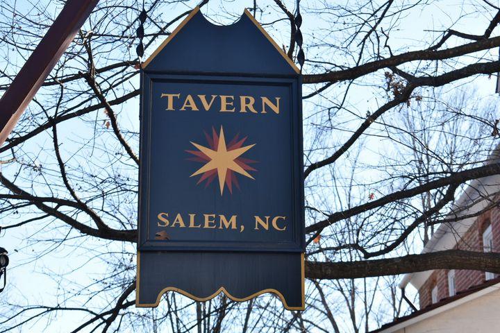 Old Salem Sign - Lens Lady Photography