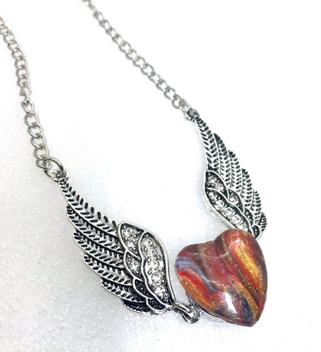 Handmade snap 20mm Wings pendant - Impressions by ISY