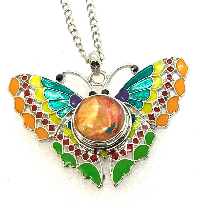 Hand painted snap jewelry Butterfly - Impressions by ISY