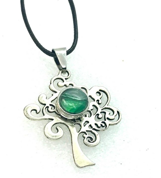 Tree of life necklace  12 mm snap - Impressions by ISY