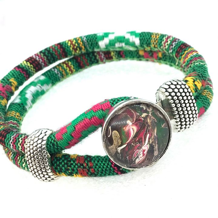 Bracelet cotton 20mm snap Noosa - Impressions by ISY