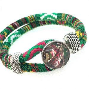 Bracelet cotton 20mm snap Noosa