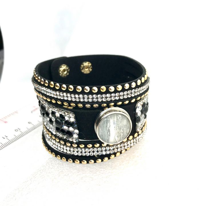 Bracelet with handmade snap 20mm - Impressions by ISY