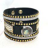 Handmade snap bracelet
