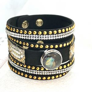Bracelet with handmade 20mm snap