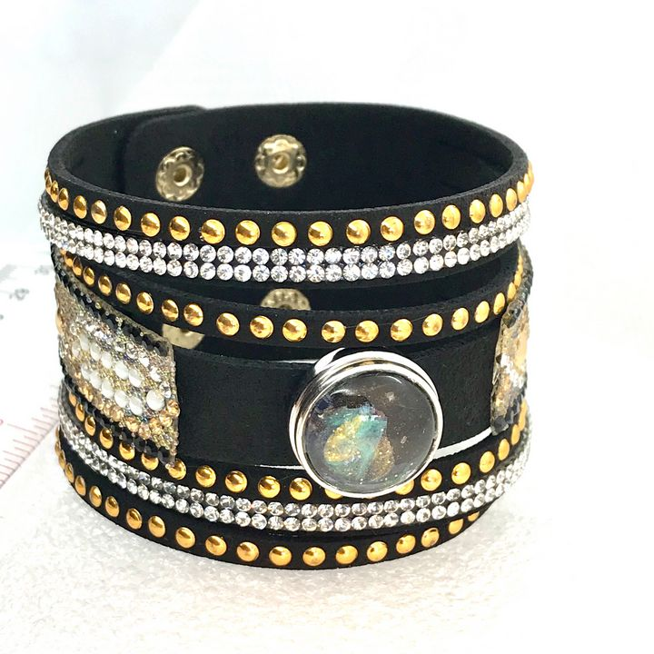 Bracelet with handmade 20mm snap - Impressions by ISY