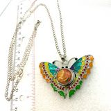 Butterfly shaped pendant snap