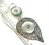 Leaf shaped pendant snap